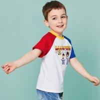 Quality O - Neck Cotton Children's Style Clothing Color Combination / Baby Boy T Shirt for sale