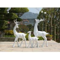 China Painted Surface Garden Animal Statues Stainless Steel Garden Ornaments on sale