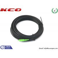 Quality FTTH Fiber Optic Patch Cord SC/APC-SC/APC Single Mode Simplex Black Color LSZH Cable for sale
