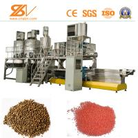 Quality Dry Wet Type Floating Animal Feed Processing Equipment / Fish Feed Machine 1-5T/H for sale