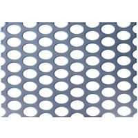 Quality Decorative Perforated Metal Mesh Screen / Metal Perforated Sheet Customized Size for sale