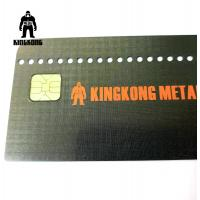 Quality CR80  Grid Finished Metal Membership Card , Square Brushed Metal Business Cards for sale