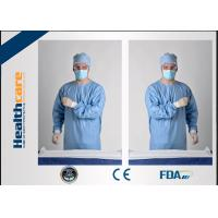 Buy Blue Disposable Surgical Gowns Sterile Reinforced Knitted Wrists Gowns ISO CE FDA Approved at wholesale prices