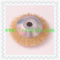 China Crimped Wire Hole Plate Wheel Brushes TRC04 wholesale