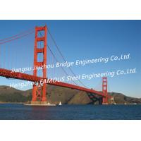 Quality Cool Cable Stayed Red Suspension Bridge Structural Frames Bailey Clear Span for sale