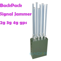 Quality 8 Antennas 100m 120w Backpack Mobile Phone Signal Jammer for sale