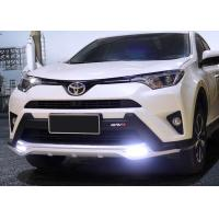 Quality TOYOTA 2016 RAV4 Plastic Front Car Bumper Guard With LED Light And Rear Guard for sale