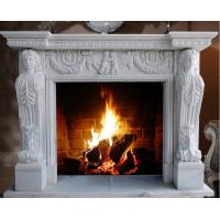 Quality European Style Hot Sale Natural Indoor Cheap Marble Fireplace for sale