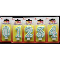 Quality Best Selling-Factory Handmade number candle with the Green Edge AND 3 colors line painted for sale
