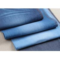 Quality Light Weight 100% Cotton Twill Stretch Denim Fabric Satin In Turkey Blue Color for sale