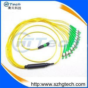 Quality 9/125um Singlemode MPO-FC/APC Fiber Patch Cord Fanout Fiber Patch Cable for sale