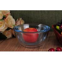 China Transparent Heat Resistant Glass Salad Bowls Glass Oven Bowls with 6 Different Sizes on sale