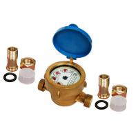 Buy cheap Brass Single Jet Water Meter Brass / Home Water Meter ISO 4064 Class B from wholesalers