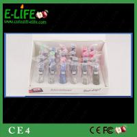 Quality High Quality Wholes 24 pcs/display box CE4 Clearomizer Colorful atomizer CE4 eGo CE4 for sale
