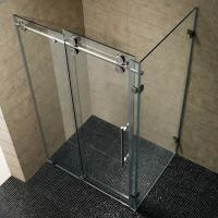 Quality Simple Painting Tempered Glass Sliding Bathroom Shower Enclosure for sale