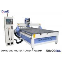 6 Zones Vacuum Table ATC CNC Router Machines With Linear Tools Holders On End Side