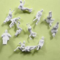 1:87 2.0cm Architectural Scale Model People , White Sitting Figures For HO Layout