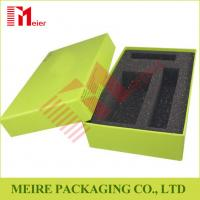 China Chip board Paper Creen Print Customized design Gift Box With Black Foam for gift set on sale