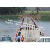 Quality Temporary Access Portable Floating Bridge Heavy Loading Capacity For Inconvenient Traffice Areas for sale