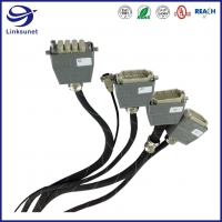 Quality Metra Crimp Wiring Harness with Heavy Duty Han Modular 30V Female Connectors for sale