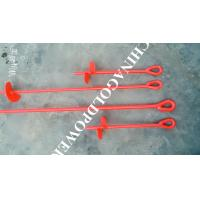 China Red Painted Metal Earth Screw Ground Anchors For Retaining Walls on sale