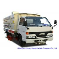 Quality JMC Truck Mounted Road Sweeping Machine With 4 Brushes 5.5 Cbm Trash 1,5 Cbm Water for sale
