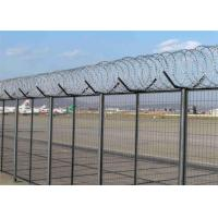 China Galvanized Or PVC Coated Blade Razor Barbed Wire , Concertina Barbed Wire on sale