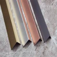 China China supplier stainless steel angle tile trim(stainless steel, grade 304, hairline finish) on sale