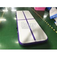 China Outdoor Small Portable Kids A Purple Air Track Gymnastics Mat For Body Building With Carry Bag on sale