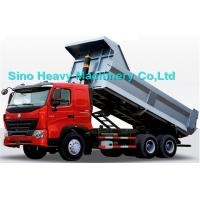 Quality 336HP HOWO Heavy Duty Dump Truck, red, white and blue colors, ZZ3257M3247N, 6x4 for sale