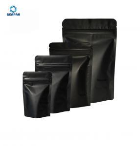 China Aluminium Foil Black Matte 120 Micron Stock Packaging Bags on sale