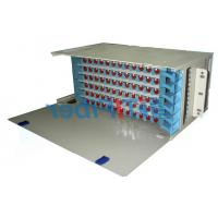 Quality 96 Port Patch Panel  SC UPC Simplex Port , Fixed Type ODF Wall Mount Fiber Patch Panel for sale