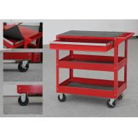 Buy cheap 32 Inch Color Customizable Metal Tool Cart On Wheels With Drawer And 2 Trays from wholesalers