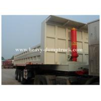 China Multi sized load trail dump utility trailer for Base Rock , Topsoil , Asphalt 3 axles with warranty on sale