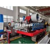 Quality Mobile Greenhouse Tomato Portable Seamless Gutter Machine Caterpillar Mounted for sale