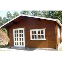 Quality Small Pine Wood Outdoor Wooden Chalet Cabin House Without Paint for sale
