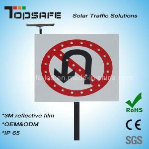 China No U-Turns Aluminum Flashing LED Solar Traffic Signs/ Signage (TP-BP-DT64) on sale