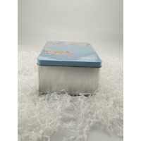 Quality PMS Printing Matte Finish Metal Rectangular Tin Box With Lid for sale
