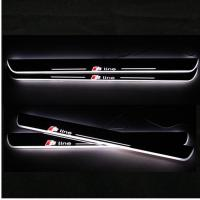 Quality LED Moving Door Scuff sill for AUDI A3 A4L A5 A1 A6L car pedals LED door sill plate light for sale