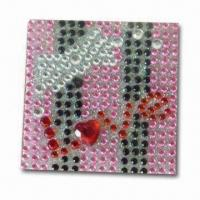 Quality Rhinestone Sticker, Decorate for Apple's iPod, Cell Phones, Mobile phones, Beautiful and Fashionable for sale