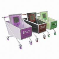 Quality Shopping Cart Clock with Pen Holder and Small Item Deposit Functions for sale