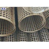 Quality Silver Welded Perforated Stainless Steel Tube Slotted Tube Filter Cylinders for sale