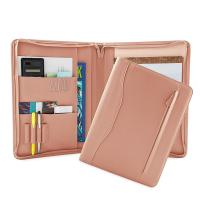 China PU Leather Portfolio Folder For Business People / College Students on sale
