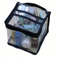 Buy Multi Functional Cosmetic Storage Organizer Bags Square Shaped With Clear PVC Vinyl Material at wholesale prices