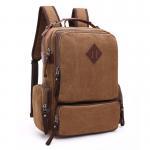 Os sacos à moda da lona grossa para indivíduos da faculdade/portátil versátil ensacam com lado Porket do zíper
