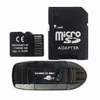Quality microSD Card with Adapter and Card Reader, 100% Real Capacity TF SD Card for sale