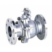 Quality 2-pc stainless steel ball flange valve ASME B16.34 full port wcb cf8m casting handle for sale