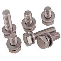 China A2-70 Stainless Steel Hex Bolt With Nut And Washer Size M4-M48 DIN933 on sale
