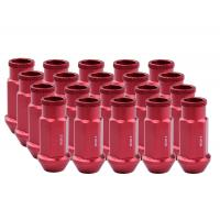 China Durable Aluminum Wheel Lug Nuts Red Color For Fiesta / Toyota / Camry on sale