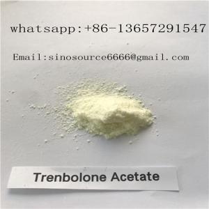 Quality Yellow Powder Trenbolone Acetate , Bodybuilding Supplements Steroids CAS 10161-34-9 for sale